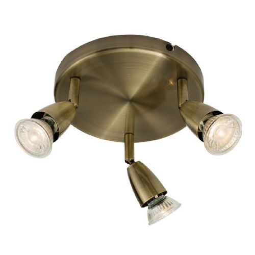 Antique brass effect plate Spotlight 60997 by Endon